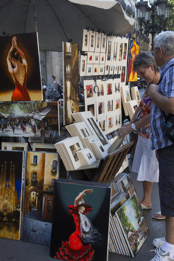 Las Ramblas - Barcelona - Spain royalty free stock photo