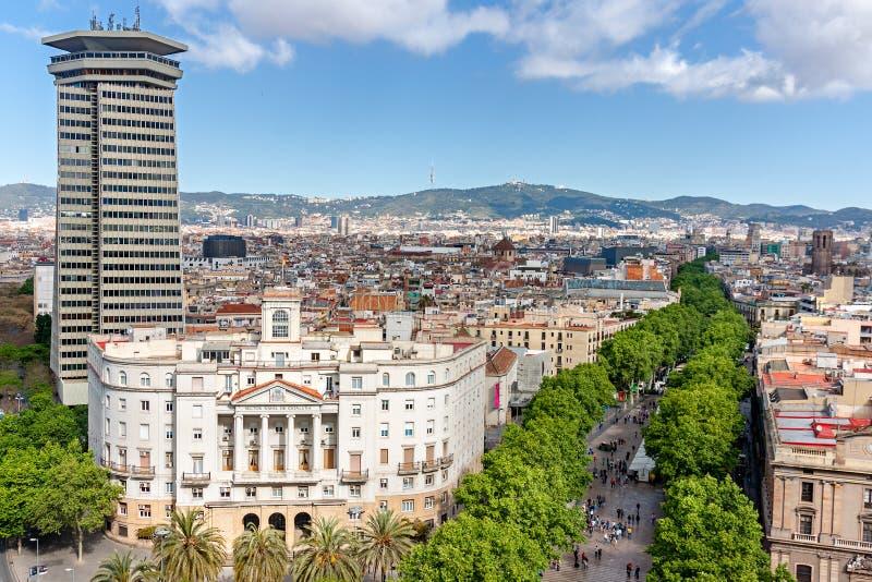 Las Ramblas em Barcelona foto de stock royalty free