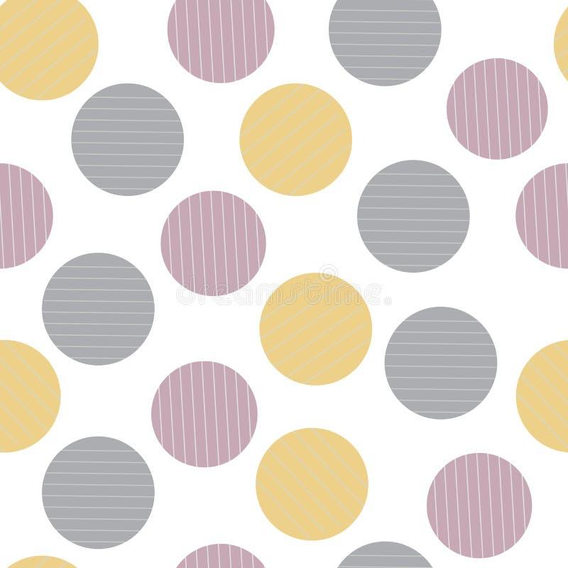 Las rayas abstractas circundan el modelo inconsútil ilustración del vector