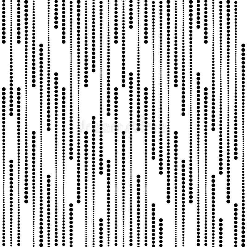 Las rayas de los puntos de semitono, Vector el modelo inconsútil imagenes de archivo