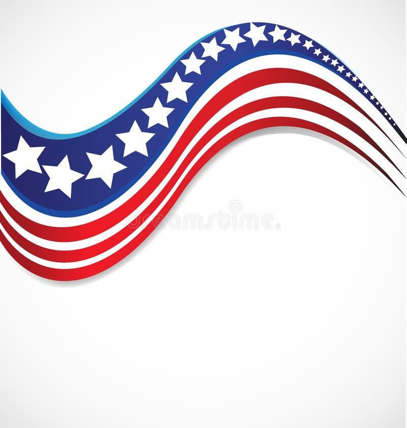 Las rayas del logotipo de la bandera de la estrella de los E.E.U.U. diseñan el fondo del vector de los elementos stock de ilustración