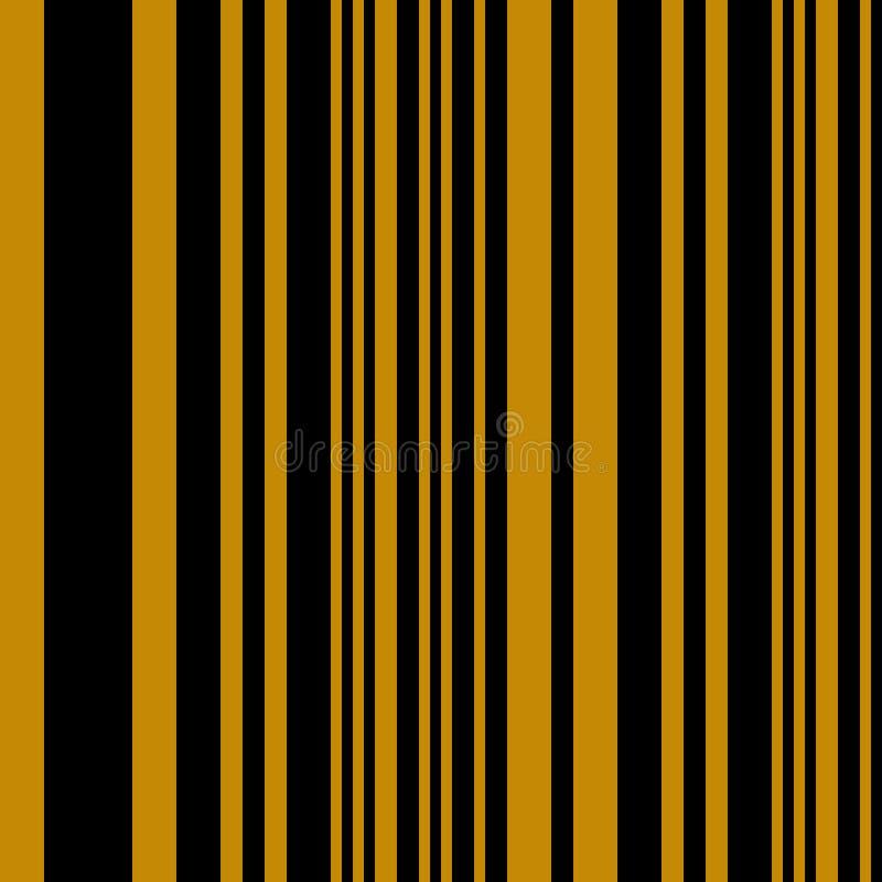 Las rayas inconsútiles vector el fondo geométrico abstracto del modelo con las líneas verticales coloridas negro de la mostaza libre illustration
