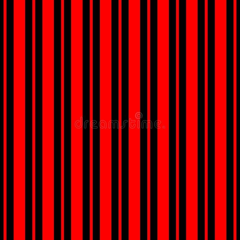 Las rayas inconsútiles vector el fondo geométrico abstracto del modelo con las líneas verticales coloridas negro y rojo ilustración del vector