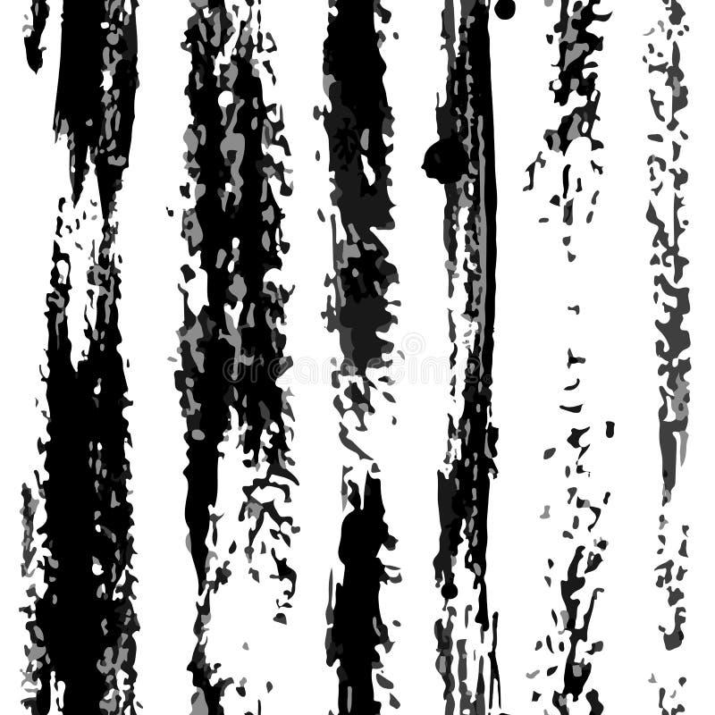 Las rayas secas de la vertical del vector modelan negro en blanco libre illustration