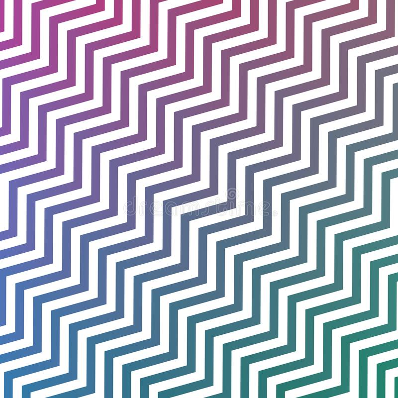 Las rayas verdes de la púrpura y blancas azules diagonales de entrelazamiento inconsútiles del zigzag texturizan el fondo libre illustration