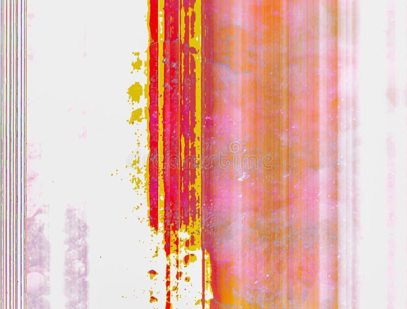 Las rayas verticales son rosadas, rojo y amarillo, también enrarezca las líneas coloreadas en un fondo blanco como contexto libre illustration