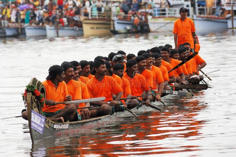 Las razas de barco de la serpiente de Kerala fotografía de archivo libre de regalías