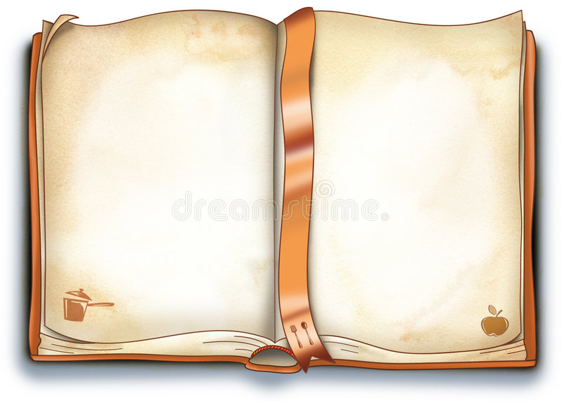 Las recetas vacías reservan - la ilustración ilustración del vector