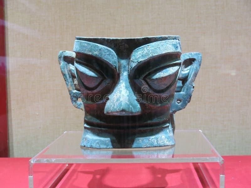 Las reliquias culturales descubiertas de Sanxingdui fotografía de archivo libre de regalías