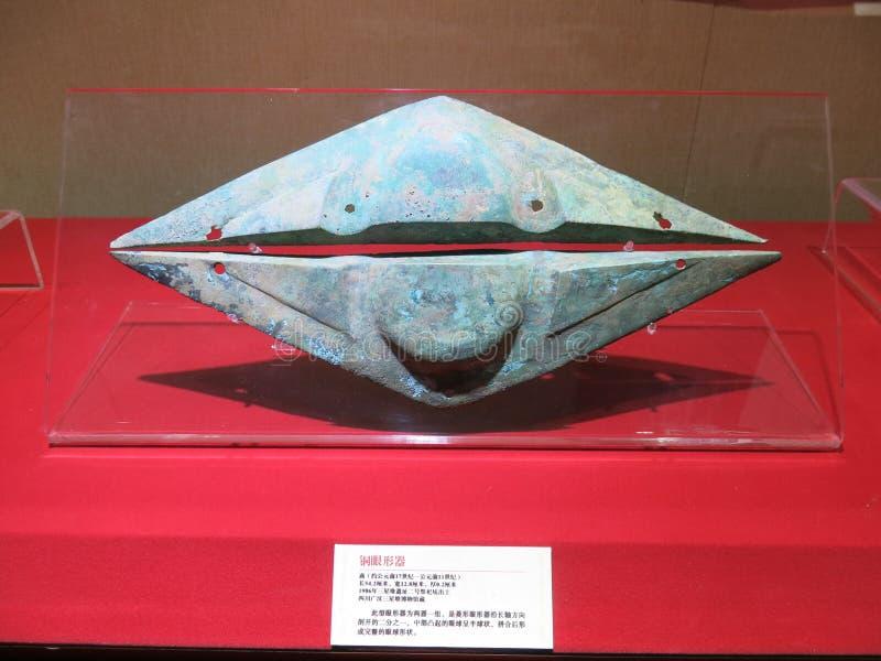 Las reliquias culturales descubiertas de Sanxingdui fotos de archivo libres de regalías
