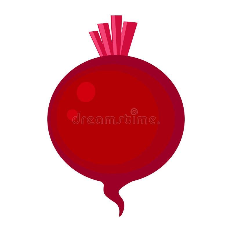Las remolachas rojas coloridas vector el ejemplo aislado en la parte posterior del blanco libre illustration