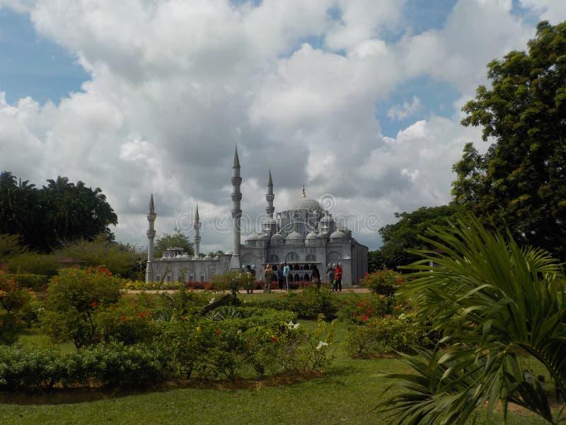 Las reproducciones notables de las mezquitas en la herencia islámica parquean, Kuala Terengganu, Malasia imagen de archivo