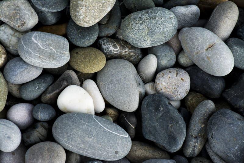 Las rocas de los guijarros en la playa foto de archivo