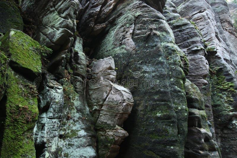 Las rocas de Prachov en Bohemia central, República Checa foto de archivo