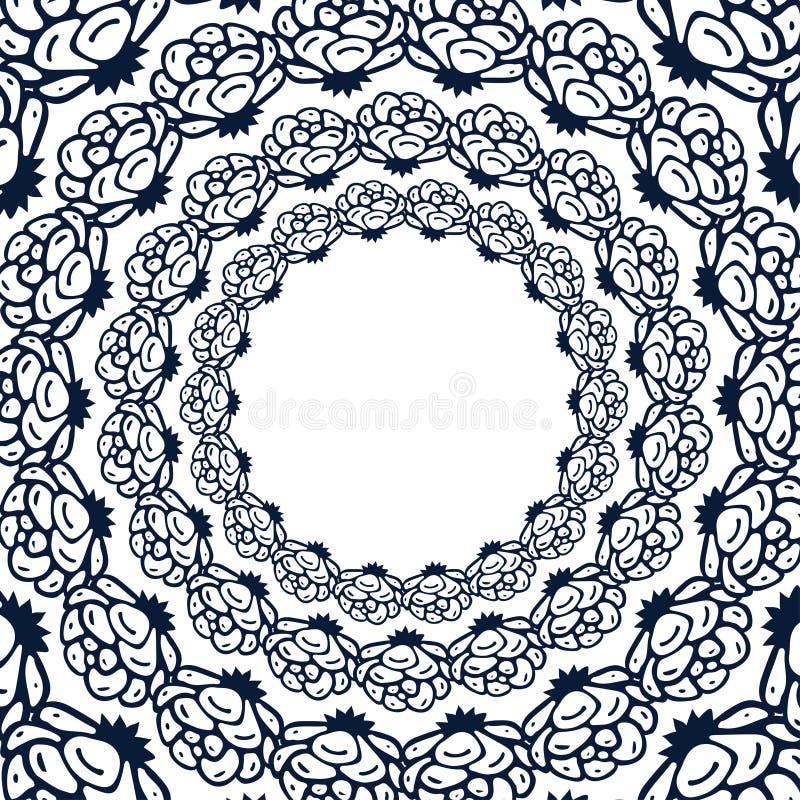 Las rosas adornan para la página del libro de colorear Marco floral del vector Fondo de las rosas del vintage para la decoración  ilustración del vector