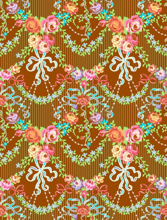 Las rosas románticas arquean el modelo inconsútil del vector floral ilustración del vector
