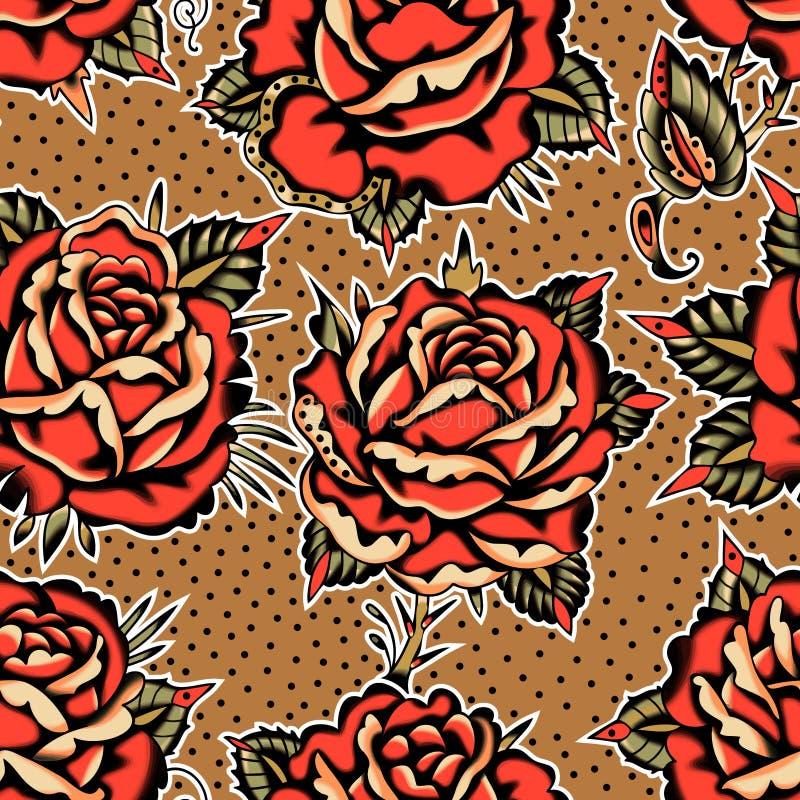 Las rosas tat?an el modelo libre illustration
