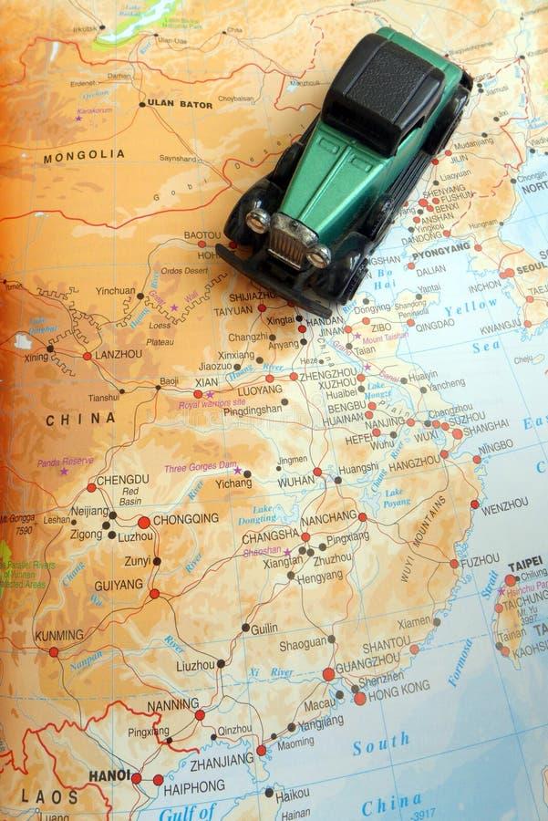 Conducción de viaje con el concepto de China foto de archivo