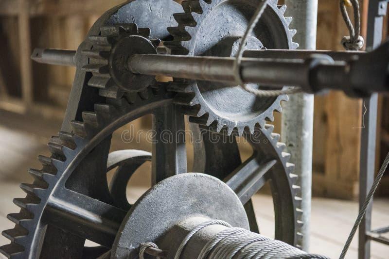 Las ruedas de engranajes del motor, se cierran encima de la visión Foto abstracta imagen de archivo libre de regalías