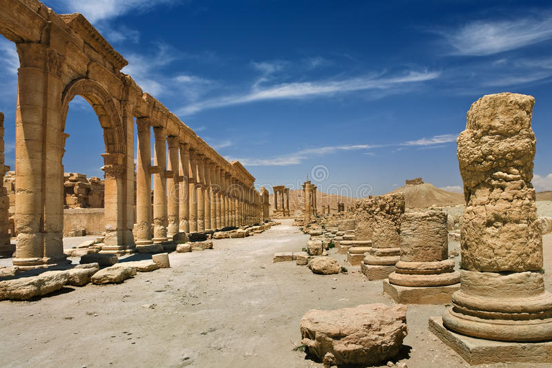 Las ruinas antiguas del Palmyra fotografía de archivo libre de regalías
