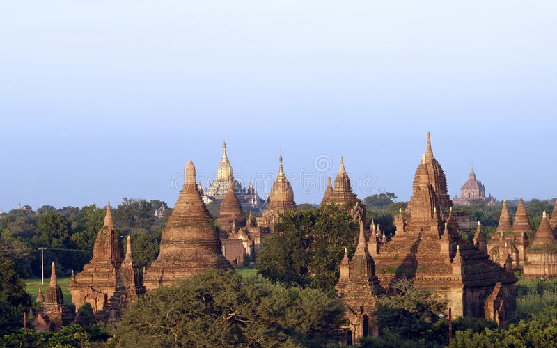 Las ruinas de Bagan (Pagan) fotos de archivo