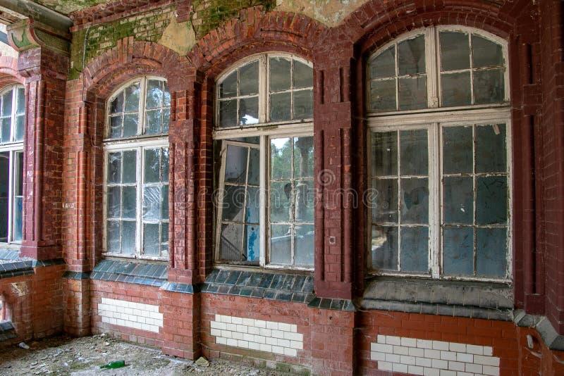 Las ruinas de Beelitz-Heilstätten perdieron el lugar Berlin Brandenburg fotos de archivo