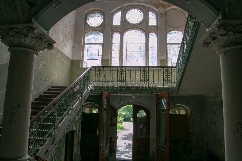 Las ruinas de Beelitz-Heilstätten perdieron el lugar Berlin Brandenburg imagen de archivo libre de regalías