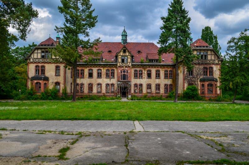 Las ruinas de Beelitz-Heilstätten perdieron el lugar Berlin Brandenburg fotos de archivo libres de regalías