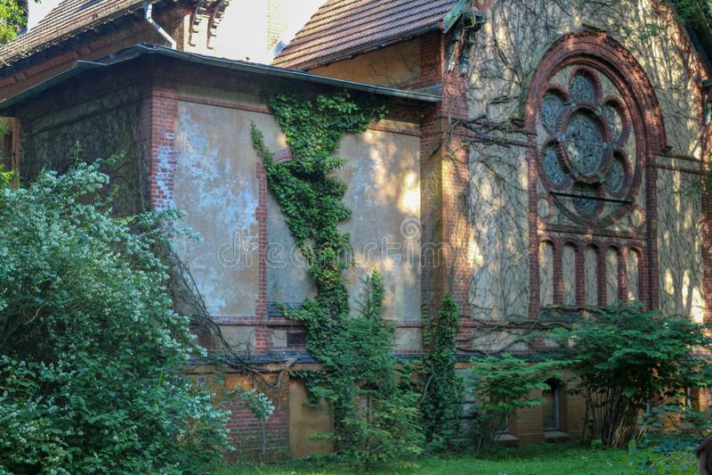 Las ruinas de Beelitz-Heilstätten perdieron el lugar Berlin Brandenburg foto de archivo