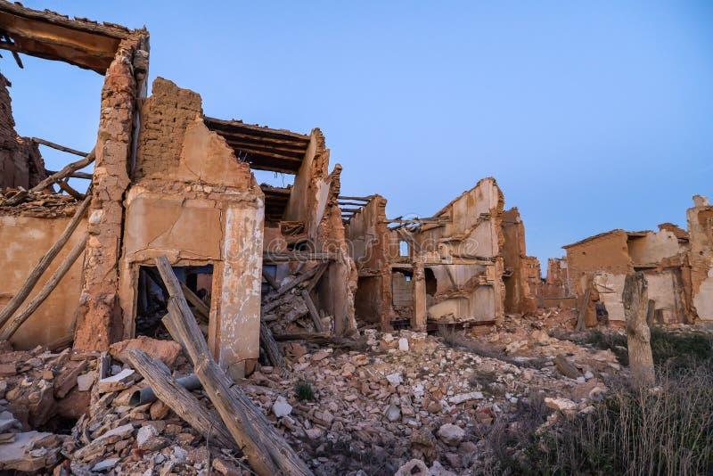 Las ruinas de Belchite - España foto de archivo