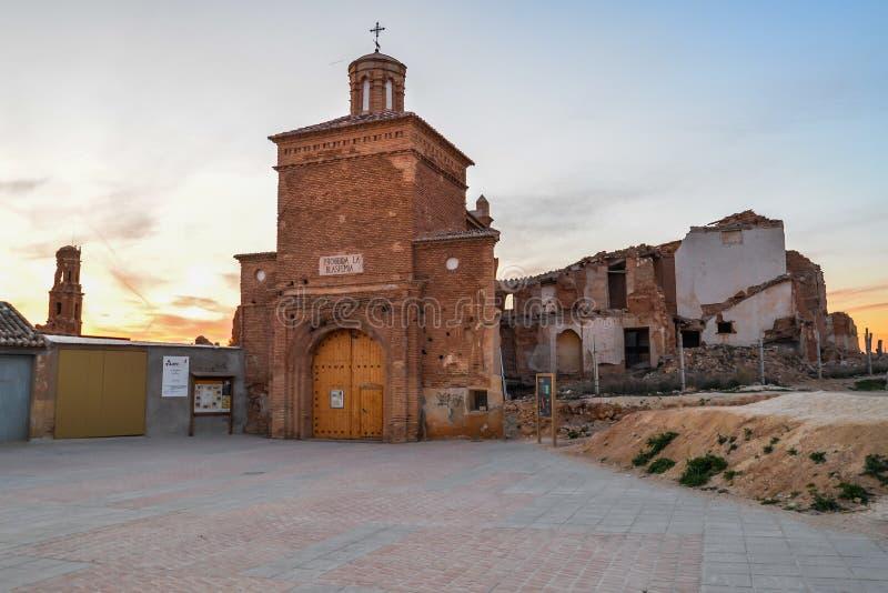 Las ruinas de Belchite - España imagenes de archivo