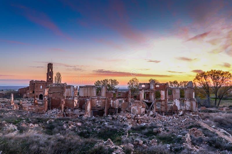 Las ruinas de Belchite - España fotos de archivo