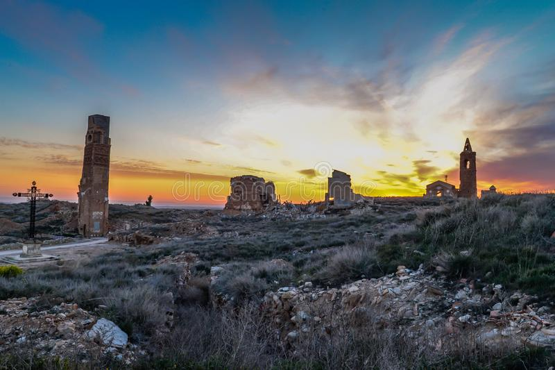 Las ruinas de Belchite - España foto de archivo libre de regalías