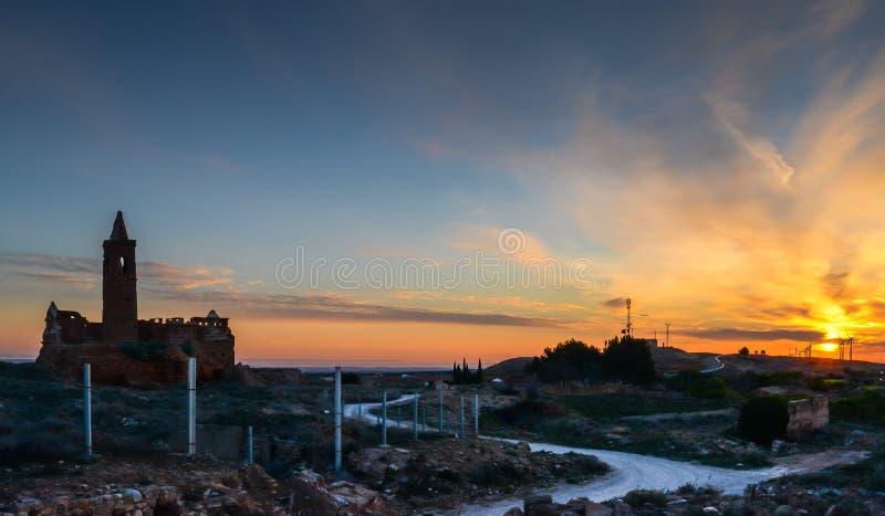 Las ruinas de Belchite - España fotografía de archivo libre de regalías
