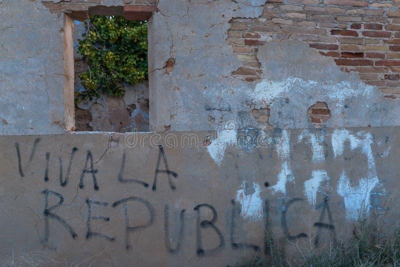 Las ruinas de Belchite - España imagen de archivo libre de regalías