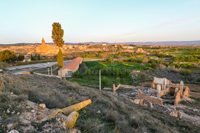 Las ruinas de Belchite - España fotografía de archivo