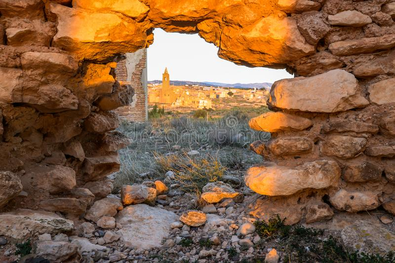 Las ruinas de Belchite - España fotos de archivo libres de regalías