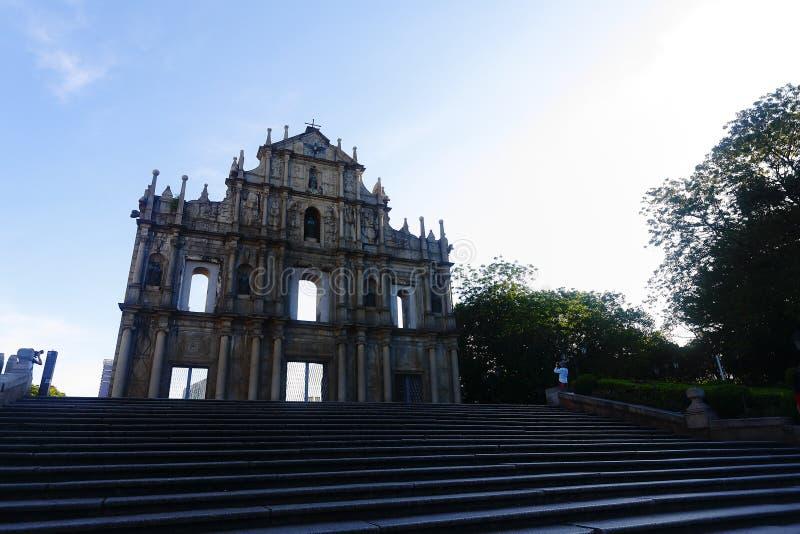 Las ruinas de la catedral de San Pablo fotografía de archivo