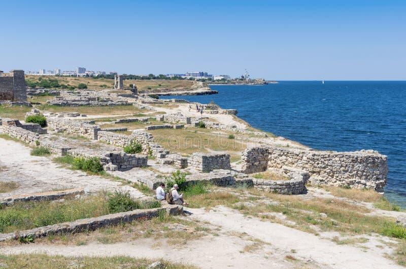 Las ruinas de la ciudad antigua imagen de archivo
