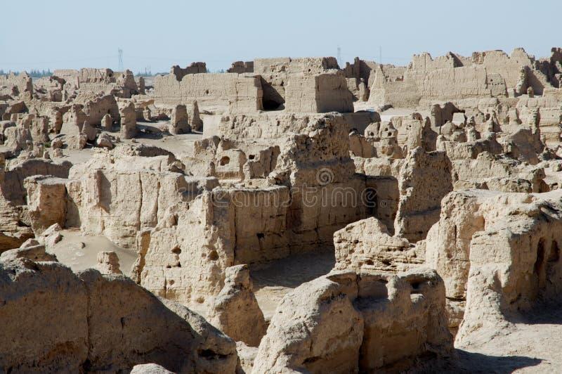 Las ruinas de la ciudad antigua de Jiaohe imágenes de archivo libres de regalías