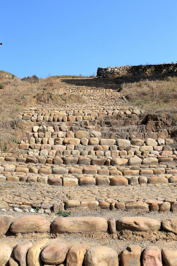 Las ruinas de la ciudad del cacique de Tujia en China foto de archivo
