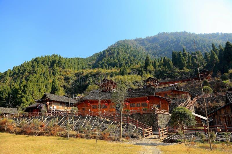Las ruinas de la ciudad del cacique de Tujia en China imágenes de archivo libres de regalías