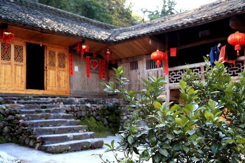 Las ruinas de la ciudad del cacique de Tujia en China fotos de archivo