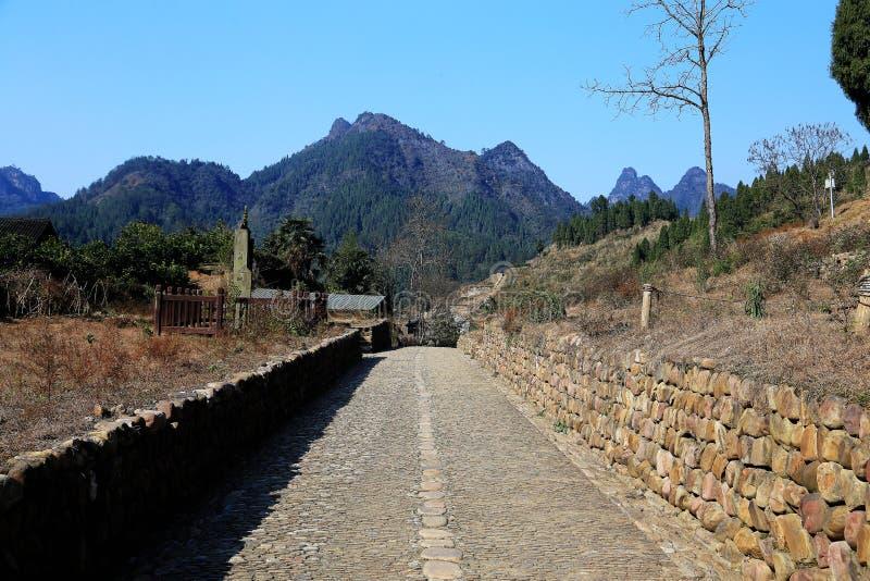Las ruinas de la ciudad del cacique de Tujia en China fotos de archivo libres de regalías