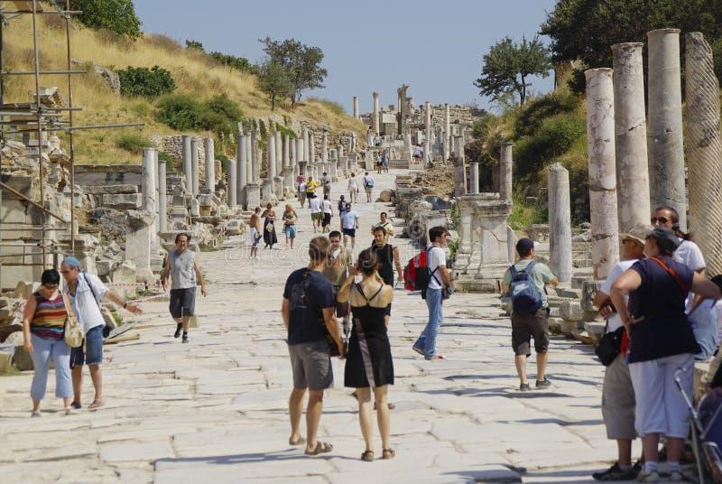 Las ruinas de la ciudad romana de Ephes, en Turquía fotos de archivo