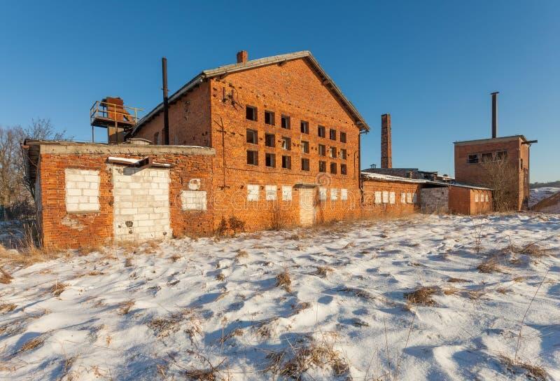 Las ruinas de la fábrica del ladrillo - Polonia foto de archivo