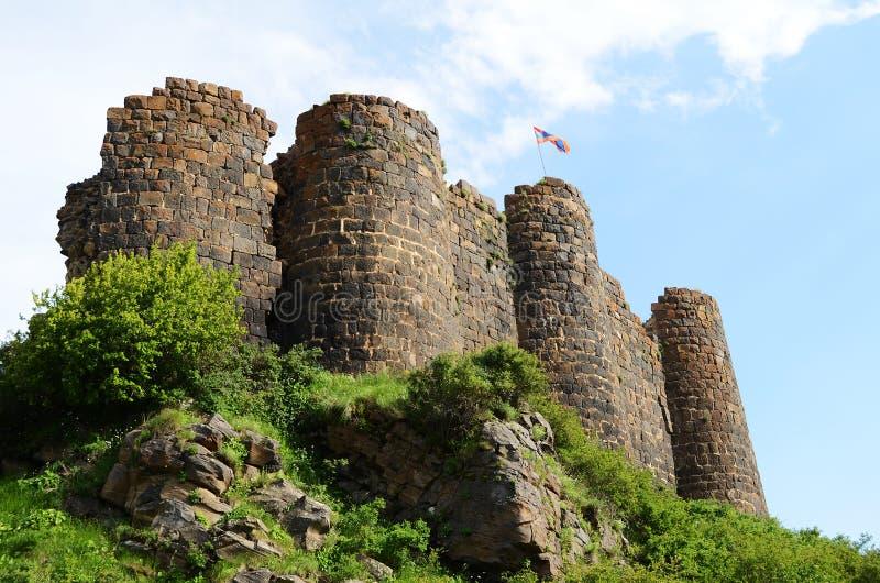 Las ruinas de la fortaleza de Amberd en Armenia fotos de archivo