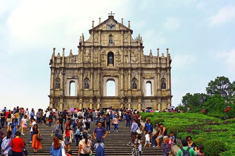 Las ruinas de los pauls del st, Macao foto de archivo libre de regalías