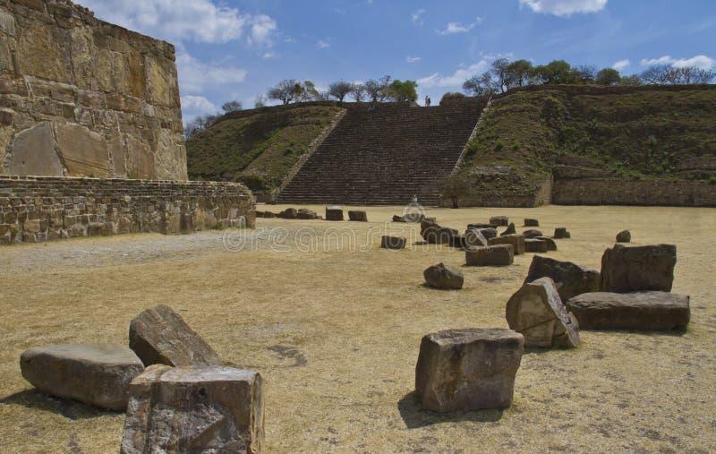 Las ruinas de Monte Alban, México imagen de archivo