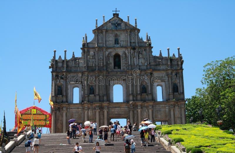 Las ruinas de San Pablo imagen de archivo libre de regalías